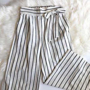 Altar'd State paper bag cotton wide leg pants